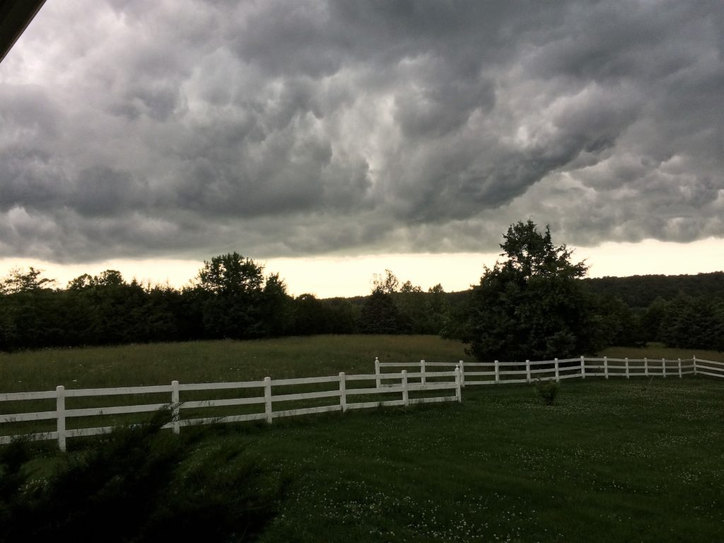 Spring storm at the ranch
